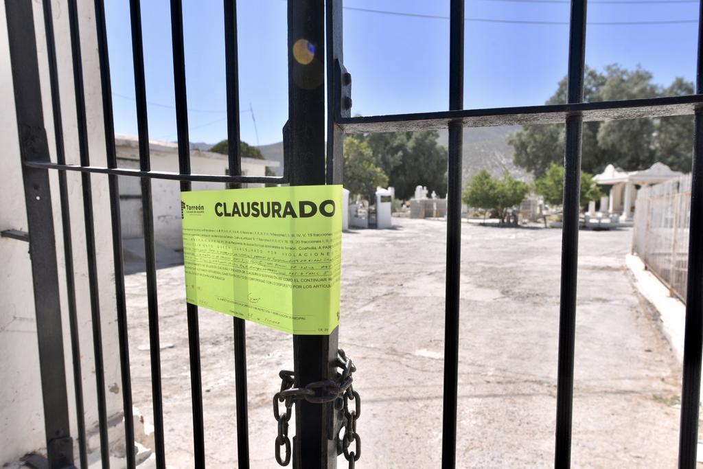 """Fue clausurado el """"Panteón Torreón"""", ubicado en el sector sur de la ciudad. (ÉRICK SOTOMAYOR)"""