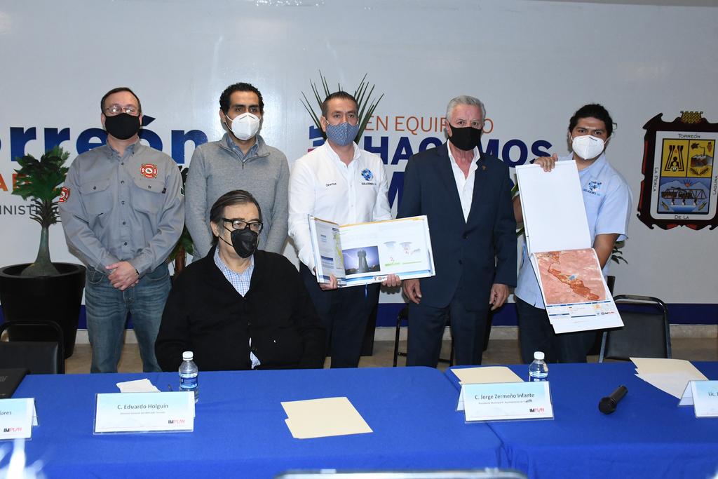 La presentación del proyecto se realizó ayer por la mañana encabezada por el alcalde Jorge Zermeño.
