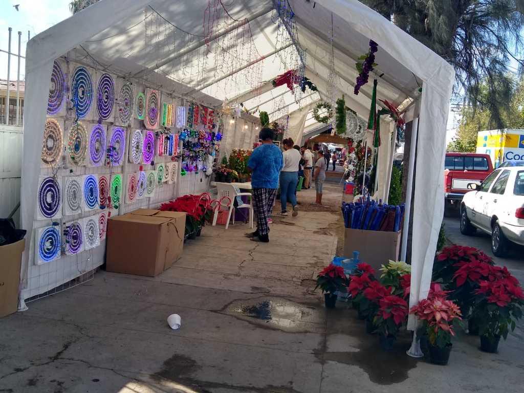 El viernes comenzó la instalación del tradicional mercado navideño en el municipio de Francisco I. Madero.