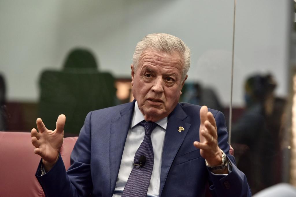 El alcalde de Torreón, Jorge Zermeño, afirmó que el presidente Andrés Manuel López Obrador ha destacado en sus primeros dos años de gobierno por generar división y polémica en el país, situación que además ha afectado especialmente a Coahuila y la Laguna. (EL SIGLO DE TORREÓN/ ERICK SOTOMAYOR)