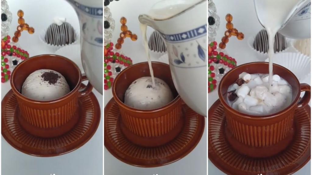 Las esferas de chocolate con bombones se han vuelto muy populares en redes sociales en gran parte debido a su atractivo visual. (ESPECIAL)