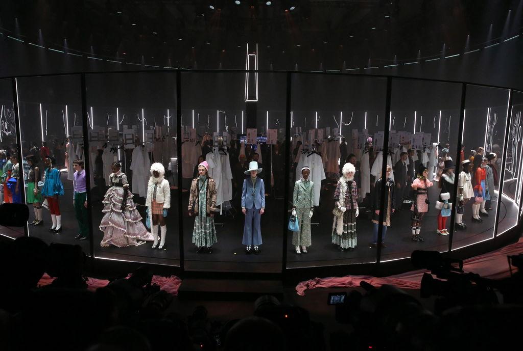 EVENTO. Antes de la pandemia, Gucci ofreció un show de moda en febrero de 2020 Milán, Italia.