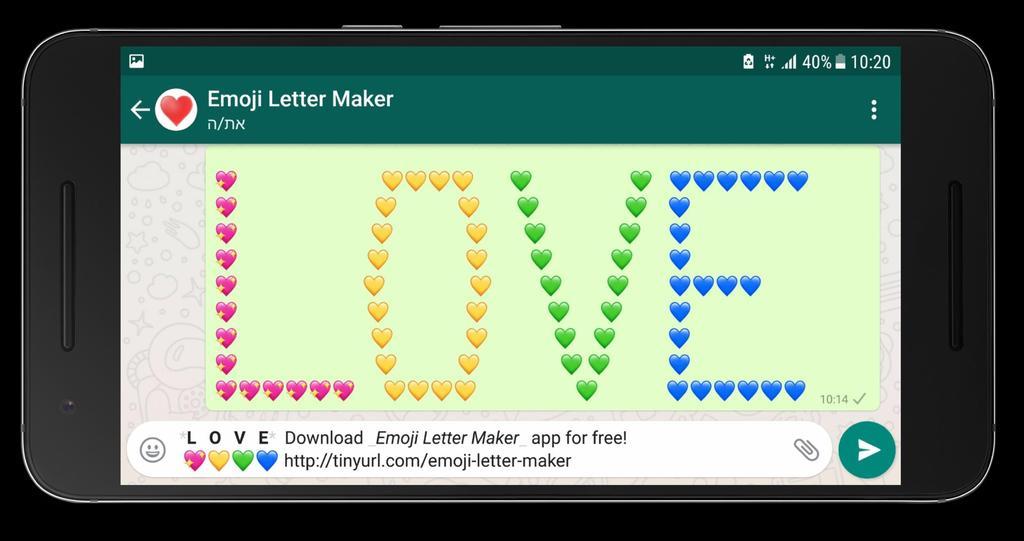 La aplicación que permite la creación de textos con emojis por el momento sólo está disponible para WhatsApp (ESPECIAL)