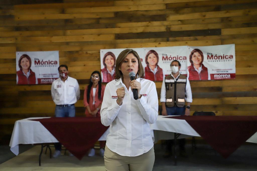 El Instituto Nacional Electoral (INE) inició un procedimiento para retirarle a Mónica Rangel la candidatura por Morena a la gubernatura de San Luis Potosí. (TWITTER)