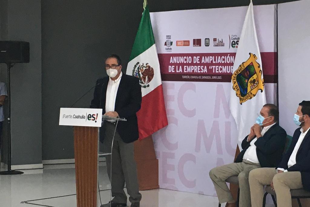 José Antonio Murra Giacoman, director general de Tecmur, dijo que el negocio se basa en la aplicación de la tecnología en un ambiente de pasión por el trabajo y compromiso de quienes la conforman. (EL SIGLO DE TORREÓN)