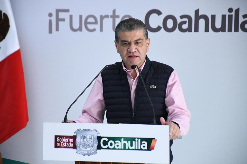 """El gobernador del estado de Coahuila, Miguel Riquelme, advirtió que presentarán una inconformidad oficial por el indicador """"naranja"""" que mantiene el Gobierno de los Estados Unidos en temas de viaje para la entidad, así como para el vecino estado de Durango. (ARCHIVO)"""
