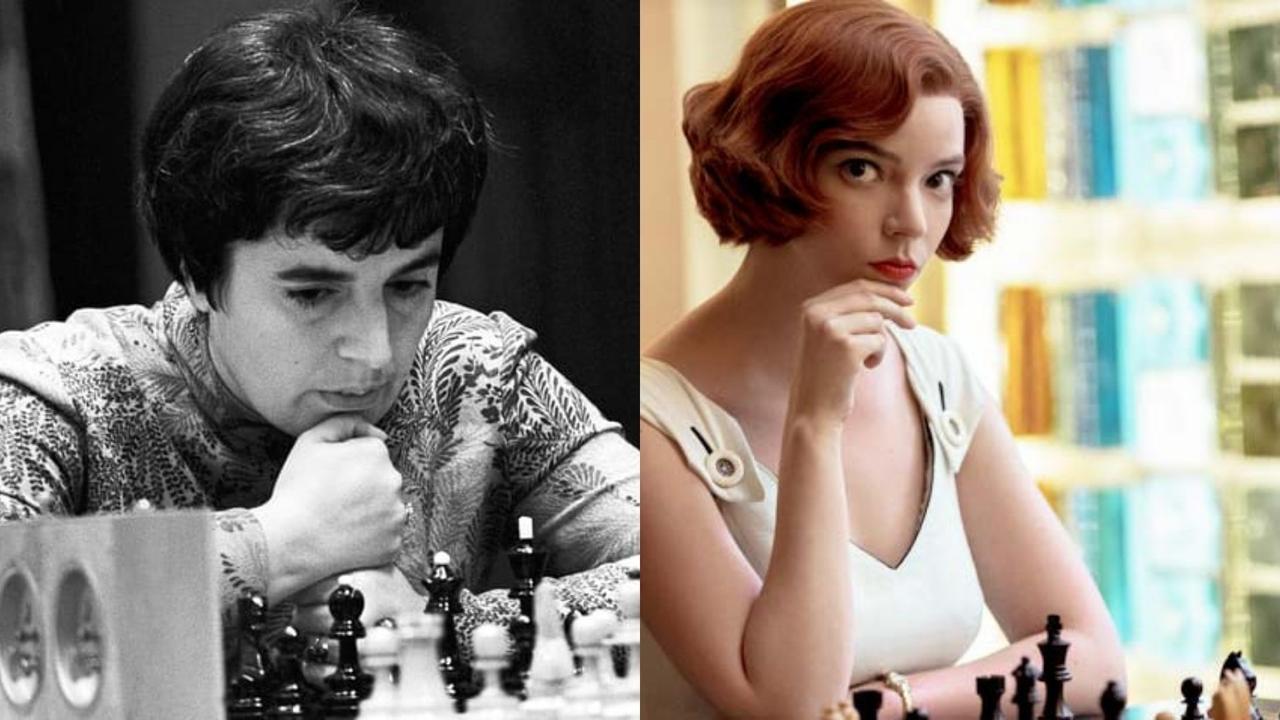 """Nona Gaprindashvili, leyenda soviética de ajedrez, reclama a Netflix cinco millones de dólares tras acusar a la plataforma de haber retratado su carrera de forma """"sexista y denigrante"""" en la exitosa serie """"Gambito de Dama"""", protagonizada por Anya Taylor-Joy.(ESPECIAL)"""