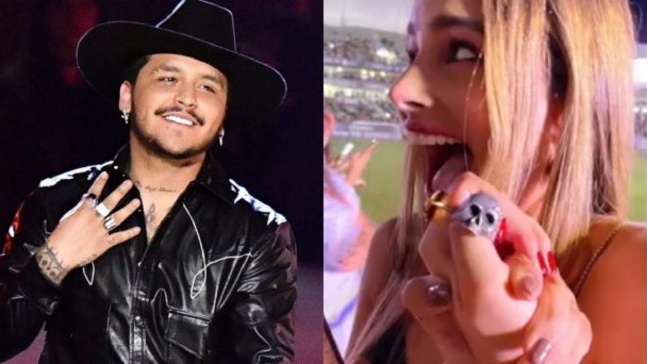 Durante la noche de ayer Christian Nodal deleitó a sus fans de Mazatlán, Sinaloa con un concierto que ofreció ante más de 8 mil personas.(ESPECIAL)