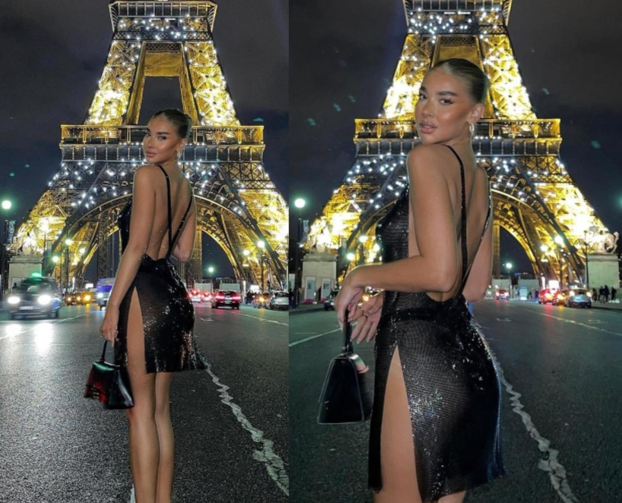La 'influencer' fue tachada de 'fake' luego de que compartiera imágenes de sus supuestas vacaciones en Paris (CAPTURA)